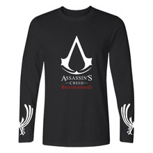 New Arrivals 2017 Spring Full Sleeve T-Shirt Hip Hop Anime T Shirt Assassins Creed Gamer Brand Clothing Full Size XXS 4XL Shirts(China)