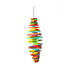 WOOD BIRD TOYS Colorful bird toy for small and medium parrots and big bird chew and swing  012
