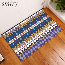 Smiry flannel 40*60cm welcome home anti slip rugs vintage indian mandala geometric pattern mats living room dust proof carpets