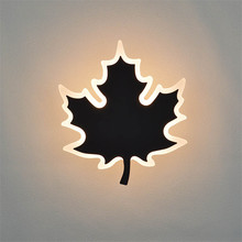 Modern Maple Leaves LED Wall Lamps Sconces Reading Lights Fixture Deco Led Wall Light for Pathway Bedroom Bedside Lamp fixtures