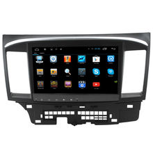 "10.2"" HD 1024*600 screen Android 4.4 Car DVD GPS for Mitsubishi Lancer with FM AM A9 chipset Dual core 3G Wifi OBD Multimedia"