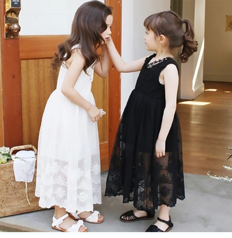 Teenage Girls Dress 2018 for Party and Wedding Dress Summer Sleeveless Lace Dress for Kids Girl Maxi Long Dress Princess Gown<br>