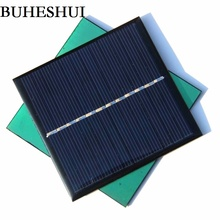 BUHESHUI Wholesale Mini 1W 6V Solar Cell Polycrystalline Solar Panel Module DIY Solar Charger Kits 85*82*3MM 50pcs Free Shipping(China)