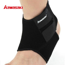 Brand Kawasaki Adjustable Ankle Support Brace Pad Guard for Basketball Running Volleyball Sports Safety Accessories KF-3602(China)