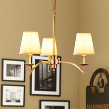 American country 3 heads Pure Copper Contracted pendent lights Sitting Room Dining-Room Bedroom Big Droplight brass Chandelier N