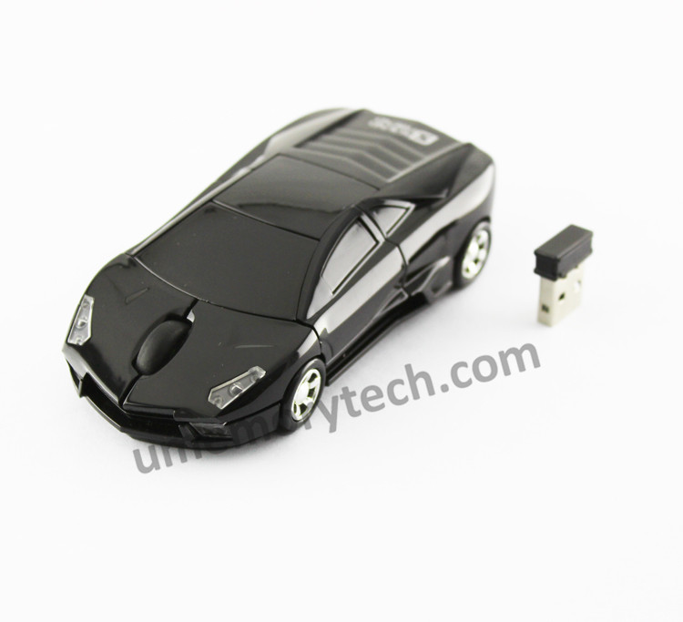 New Fashion Sports Car Shape 2.4GHz Wireless Mouse Car Mause 1600DPI Optical Gaming Mouse Mice for computer PC free shipping
