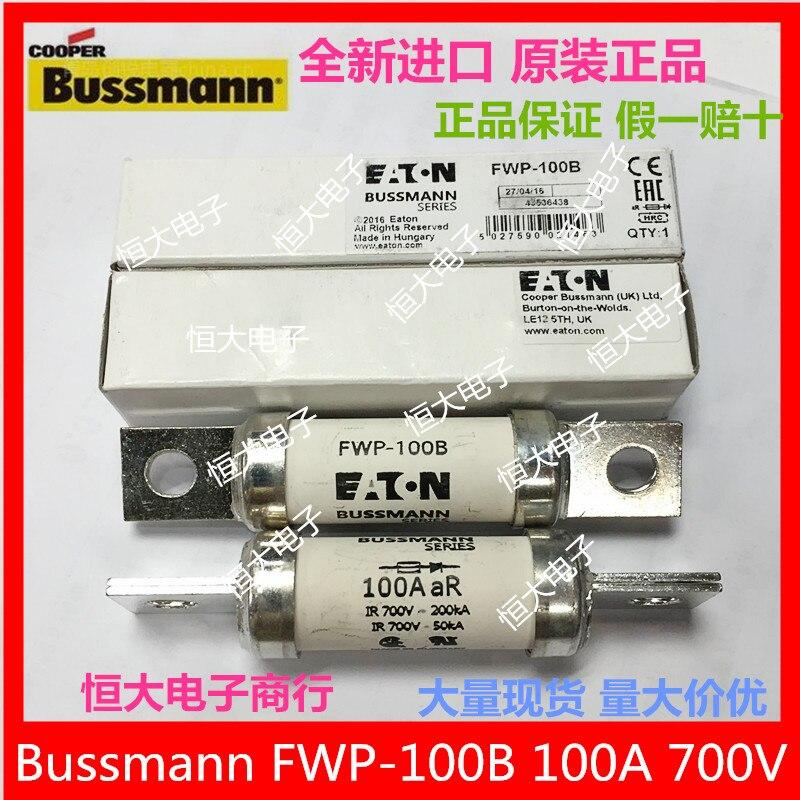 Bussmann FWP-100B 100A 700V fuse, fast ceramic fuse original import<br>
