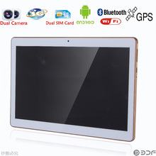 Classic 10 inch Original Dual sim card Android 4.4 Quad Core 1GB + 16GB CE Brand 3G Phone Call laptop WiFi new Tablet pc tablet(China)