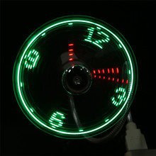 D3 Electronic Gadgets Gadget Led Portable Flexible Mini USB Powered LED Cooling Flashing Real Time Display Function Clock Fan