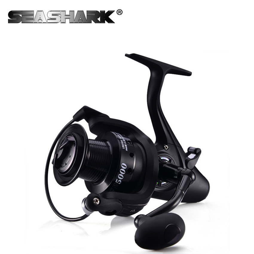 SEASHARK Saltwater Spinning Reel with 12 Ball Bearings 5.1:1 Gear Ratio Larger Aluminum Spool 8KG Drag Boat Fishing Reel<br>