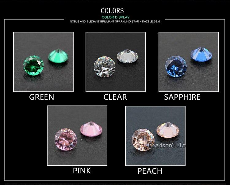 Blanco Cubic Zirconia Cz Corte Gemas Diamantes de Imitación de Cristal Arte en Uñas Tamaño De Joyería Artesanal