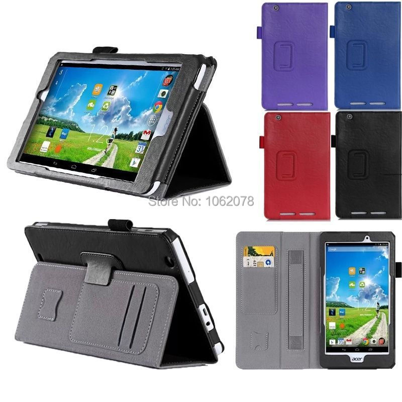Hand Strap Stand Leather Case Card Pocket Cover For Acer Iconia Tab B1-810 One8<br><br>Aliexpress