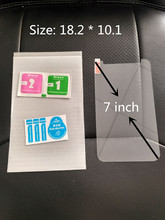 "7"" Universal Tempered Glass Screen Protector Film For 7 inch Tablet , Size: 18.2 * 10.1 cm + Alcohol Cloth + Dust Absorber"