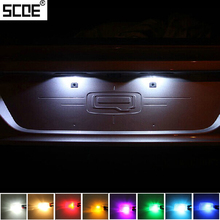 Scoe 3smd led license plate lamp light car styling 2x bombilla fuente para Peugeot 206 307 2008 308 508 3008 Cristal Azul Blanco Cálido