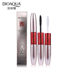 BIOAQUA Brand Double Ended White+Black 3D Fiber Mascara Waterproof Makeup Colossal Lash Rimel Curling Eyelash Extension Make Up(China)