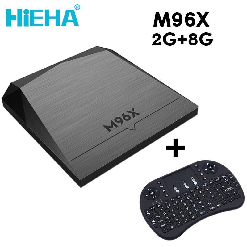 Hieha TV Receivers Set Top Box M96X 2G 8G Amlogic S905X Quad-core Cortex-A53 Mali-450 Smart TV Kodi Tablet Android 6.0 4K WiFi<br><br>Aliexpress