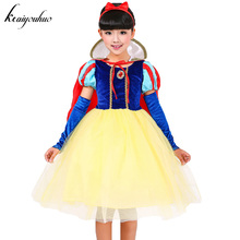 keaiyouhuo Children Fancy Belle Dress Snow White Dress For Girls Party Princess Dresses Christmas Costume For Kids Girls Clothes(China)
