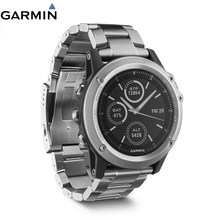 Garmin Fenix 3 Sapphire Waterproof Multi-Sports Titanium GPS+GLONASS Watch 10 ATM Wristwatch Map Running Swim Golf