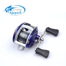 Agepoch 3 BB Bait Casting Baitcasting Jig Mini Right Hand Fishing Reel Feeder Carp China Equipment Gear Sea Spool Peche Wheel(China)