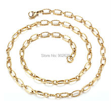 45cm brand new gold-color long necklaces men perfume women colar fashion jewelry chain necklace gold accessories 11N24K-19