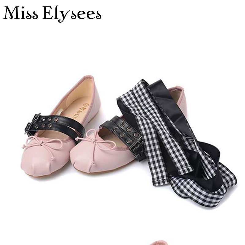 Bowtie Round Toe Women Shoes Flats Slip on Buckle Belt Brand Ballet Flat Shoes Casual Ballerina Flats Zapatos Mujer<br><br>Aliexpress