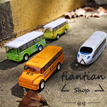 1:64 alloy car model kids toys Urban traffic series school bus tour bus Subway car Bus Children like the gift