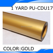 50CMX100CM Gold PU Heat Transfer Film Vinyl,Korea Quality with best price