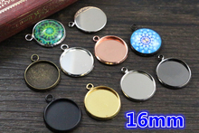 16mm 20pcs Brass Material 7 Colors Plated Cameo Setting Base Cabochon Setting Connector High Quality