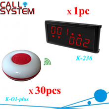 Featured Product One Display Monitor with 30 Call Buttons Remote Restaurant Table Call System