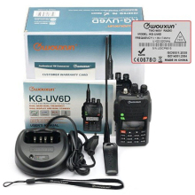 100% Original Radio Walkie Talkie WouXun KG-UV6D Handheld VHF/UHF 136-174/400-470MHz FM Dual Band Ham Two Way Radio Transceiver