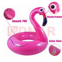 DMAR Inflatable Flamingo Swimming Ring Giant Pool Float Mattress Mat Swimming Circle for Adult Beach Summer Water Game Party Toy