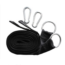 Hot sale 1Set Essential Can Hold 200kg Camping Hammock Hanging Belt Hammock Strap Rope with Carabiner