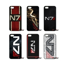 Fashion Mass Effect N7 Logo Print Phone Case Cover For iPhone 4 4S 5 5C SE 6 6S 7 Plus Samsung Galaxy Grand Core Prime Alpha(China)