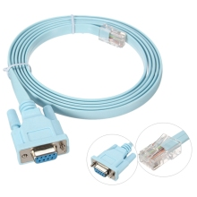 For Cisco Console Cable RJ45 Cat5 Ethernet to Rs232 DB9 COM Port Serial Female Routers Network Adapter Cable Blue 1.8m 6Ft(China)
