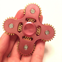 Popigist 5 Gears Spinner Pink Metal Spiner Five Teeth Linkage Special Hand spinner High Speed EDC Spinners Toy Finger Spinner