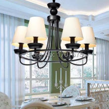 American Village wrought iron metal E14 lamp holder chandelier for living room bedroom dining room(China)