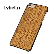 LvheCn Egyptian Hieroglyphics Authentic Sandstone Egypt phone case cover for iphone 5 5S SE 6 6S 7 8 PLUS X(China)
