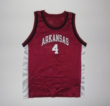 Vintage Champion Arkansas Razorbacks #4 College Basketball Jersey Embroidery Stitched Custom any Number and name