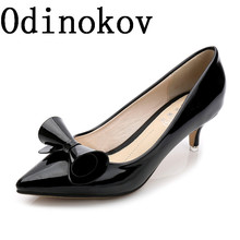 Odinokov Vintage Sexy Red Black Blue Pointed Toe High Heels Women Pumps Shoes 2017 Brand New Design Less Platform Pumps