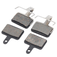 2 Pairs Mountain Bike Bicycle Disc Brake Pads Cycling Brake Pads For Shimano M375 M445 M446 Bicycle Square Oil Brake Pads(China)