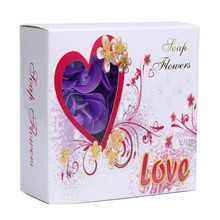 2017 new Random Heart Paper Fancy Soap Flavor Scented Bath Body Petal Rose Flower Soap Wedding Decoration Feb2