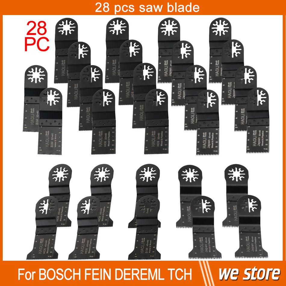 28 pcs Oscillating Multi Tool saw blades fit for TCH,Fein,Dremel RENOVATOR tool,DIY power tool accessories at home,cut metal<br><br>Aliexpress
