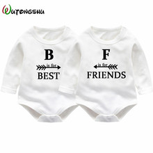 "Buy ""Best Friends"" Twins Baby Rompers Long Sleeve Cotton Baby Girls Boy Clothing Sets Newborn Baby Jumpsuit Costumes Twins Clothes for $14.99 in AliExpress store"