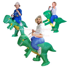 Ride Costume 3 size Inflatable Dinosaur T-Rex Fancy Dress adult Kids halloween Costume Dragon Party Outfit animal themed cosplay
