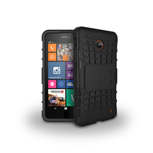 Quality Rugged Kickstand Armor Case for Microsoft Nokia Lumia 630 Hard Shock Proof Case With Stand Phone Accessory Funda(China)