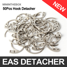 50Pcs/lot Detacher Hook Key Detacher Security Tag Hook Remover For EAS Tag Handheld Convenience Portable