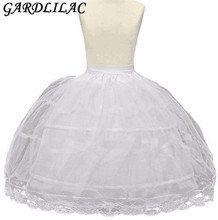 In Stock New Arrival Ball Gown Flower girls Petticoat  2-hoops Spit Under skirt for child petticoat wedding accessory