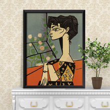 Avignon girls/Pablo Picasso Oil Painting/living room Frame painting /kraft paper/ Retro Poster /decorative painting 54.5 x 39cm