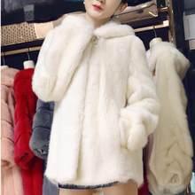 Faux cappotto di pelliccia di Visone Cappotto di Pelliccia 2018 Donne di Inverno  della Pelliccia Del Faux Giacca di Pelliccia Ar.. 1664fd31d995