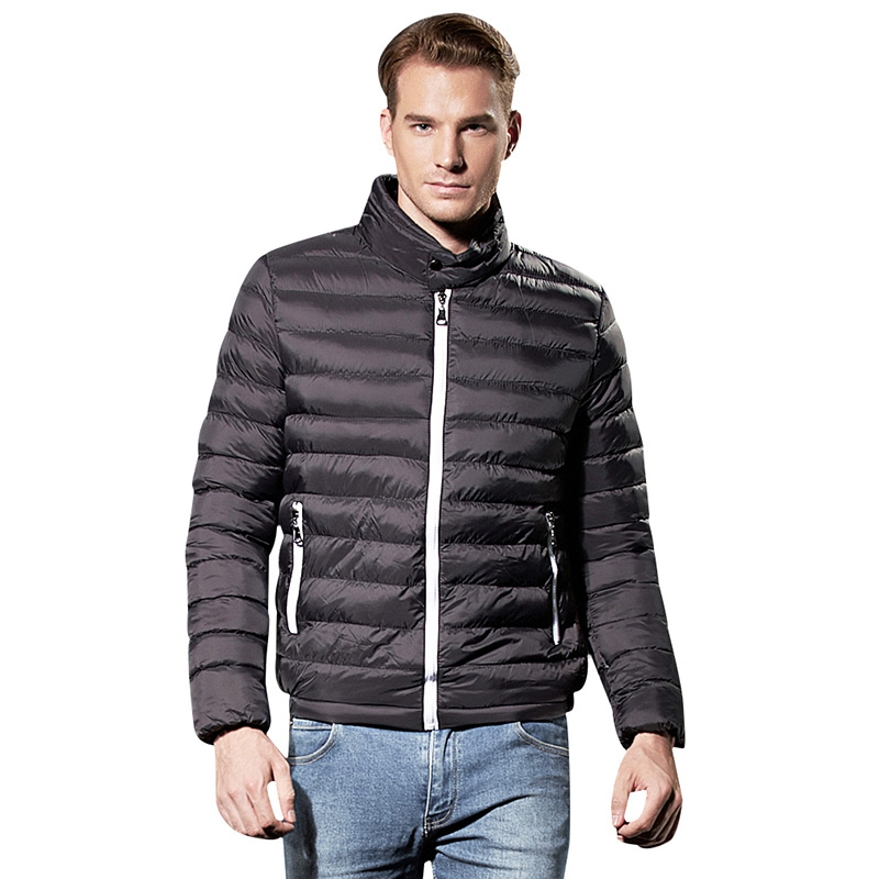 NXH 2007 Brand Winter Spring Men Thin Down Jacket Long Sleeve Solid Winter Coats Puffer Coat Winter Parka  Warm Coat Plus SizeОдежда и ак�е��уары<br><br><br>Aliexpress
